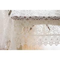 欧式水溶蕾丝桌布纯色万缕丝满工镂空台布精品抽纱刺绣桌布