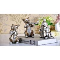 家居装饰品欧式创意三只猫摆件客厅电视柜酒柜摆设结婚礼物