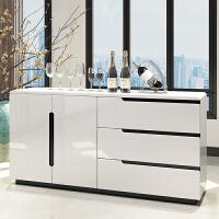 简约现代餐边柜白色烤漆储物柜多功能储物碗橱客厅茶水柜厨房橱柜 双门
