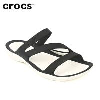Crocs凉鞋女夏 平底凉鞋卡骆驰激浪夏季休闲鞋|203998 女士激浪凉鞋