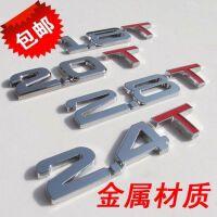 汽车排量标志贴 个性车贴1.8数字金属车标贴 贴标