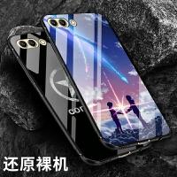 华为荣耀v9手机壳玻璃v10手机套硅胶全包防摔个性创意男女玻璃