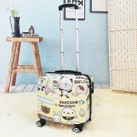 小清新行李箱女小型拉杆箱18寸儿童旅行箱韩版卡通密码箱16登机箱 黄兔 【卡通款】 【电脑隔层】