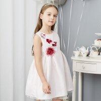 【1件3折到手价:74.7】米喜迪mecity童装女童连衣裙立体玫瑰花优雅宴会裙公主裙