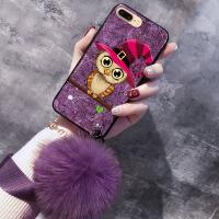 苹果6splus手机壳iphone6s壳7保护套软毛球挂绳新女款iphone7plus壳8网红XR六 苹果XS MAX