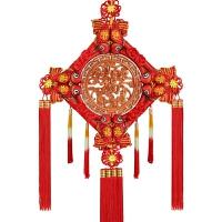 中国结挂件客厅大号桃木福字挂件家居乔迁新居装饰壁挂