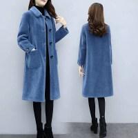 皮草大衣女装2019冬季外套仿羊剪绒加厚中长款颗粒绒羊羔毛外套女