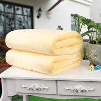 360克加厚法兰绒毯子珊瑚绒床单纯色瑜伽盖毯办公室沙发毛毯