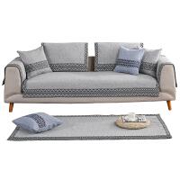 北欧沙发垫四季通用布艺客厅组合1+2+3套装防滑现代简约棉麻坐垫