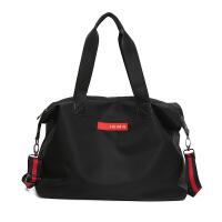 旅行大包男女通用韩版斜跨包防水运动包单肩包大容量手提包包 黑色