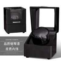 摇表器 品质自动转表器手表上链盒机械表架晃表器上弦器 钢琴烤漆+内黑 【1+0】