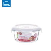 乐扣乐扣保鲜盒耐热玻璃饭盒微波炉烤箱可用密封碗便当碗冰箱储物 圆【380ml】