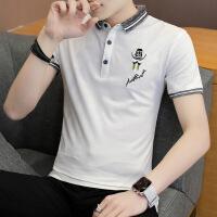 夏季男士短袖t恤翻领修身青年韩版半袖保罗polo衫体恤衫潮流衣服