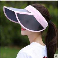 大檐凉帽防晒空顶帽遮脸出游百搭户外可折叠防紫外线太阳帽遮阳帽子女