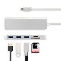 TYPE-C扩展坞三星Galaxy Tab S5e 平板转接头USB连接USB键盘鼠标 钛晶银【TYPE-C转3个US