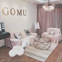 新款现代简约北欧客厅地毯沙发茶几卧室床边毯长方形可机洗 暖色 200x300cm