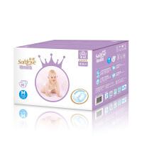 柔爱金冠装婴儿纸尿片 softlove超薄透气宝宝纸尿裤 尿不湿M码数96片装