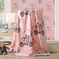 绚典家纺 三角针儿童云毛毯 卡通儿童毯子空调毯盖毯