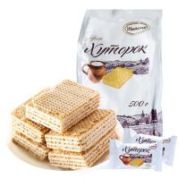 俄罗斯进口 阿孔特小农庄奶罐威化饼干鲜奶芝士威化零食500g