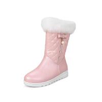 20190120011701346女童靴子韩版2018新款冬季女孩水钻公主靴加厚儿童雪地靴短靴