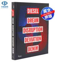 英文原版 牛仔品牌Diesel发展史 迪赛 5D 服饰服装设计艺术书 品牌历史Rizzoli时尚画册 精装