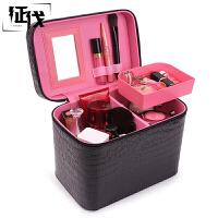 征伐 化妆包女 大容量手提式洗漱包旅行用品家用便携多功能化妆箱大号化妆品收纳盒