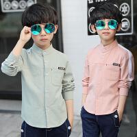 男童衬衫长袖春秋季新款韩版中大童春装儿童衬衣童装上衣