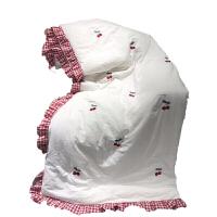 可水洗棉夏被绣花荷叶边 纯棉简约双人薄被子夏凉被空调被单人 200X230cm