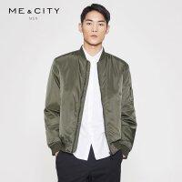 【2件3折到手价:200.7】MECITY男装春季棒球领保暖夹克式棉服棉衣外套帅气
