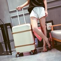 行李箱复古女拉杆箱学生旅行箱韩版小清新个性密码箱20寸24登机箱