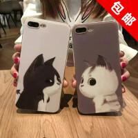 苹果iPhone7 7plus/6/6s/6plus/6s plus创意卡通可爱猫咪手机壳软套 苹果7/7plus创意