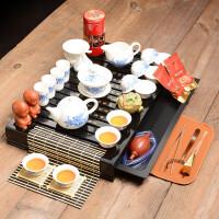 茶具套装 紫砂茶具 功夫茶具整套实木茶盘茶海茶道茶台 22件