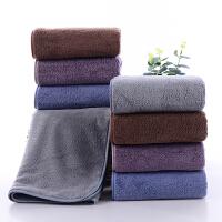 斜月三星【4条装】珊瑚绒毛巾 成人家用 超强吸水柔软舒适吸水擦脸巾