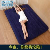 厚户外折叠冲气床午休充气床 气垫床 单人充气床垫双人家用
