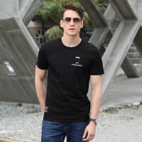 2019夏装新款吉普盾圆领时尚弹力短袖T恤衫 9007男士休闲大码polo宽松