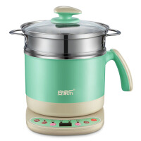 家用迷你电热锅多功能分体式电火锅1一2人电煮锅小型厨房小电锅 深绿