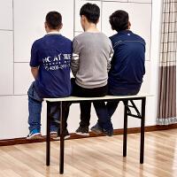 简易折叠桌办公桌会议桌培训桌长条桌书桌电脑桌快餐桌学习长桌子 单层加固 长80宽40高75