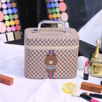 新款化妆包大容量多功能护肤品收纳盒韩国简约便携多层化妆箱手提