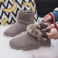 雪地靴女短筒冬季新款短靴韩版百搭学生棉鞋加绒保暖短靴子潮