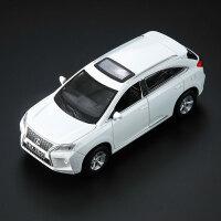 雷克萨斯1:32RX350越野车仿真合金小汽车模型儿童玩具车闪光亮灯 白色