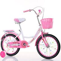 W 儿童自行车6-7-8-9-10-16岁新款女童小孩学生公主式单车 +辅助轮