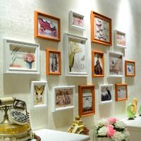 家居生活用品创意7 10寸相框挂墙组合连体挂摆台婚纱照欧式画框相片框照片墙 整套占墙尺寸164*8