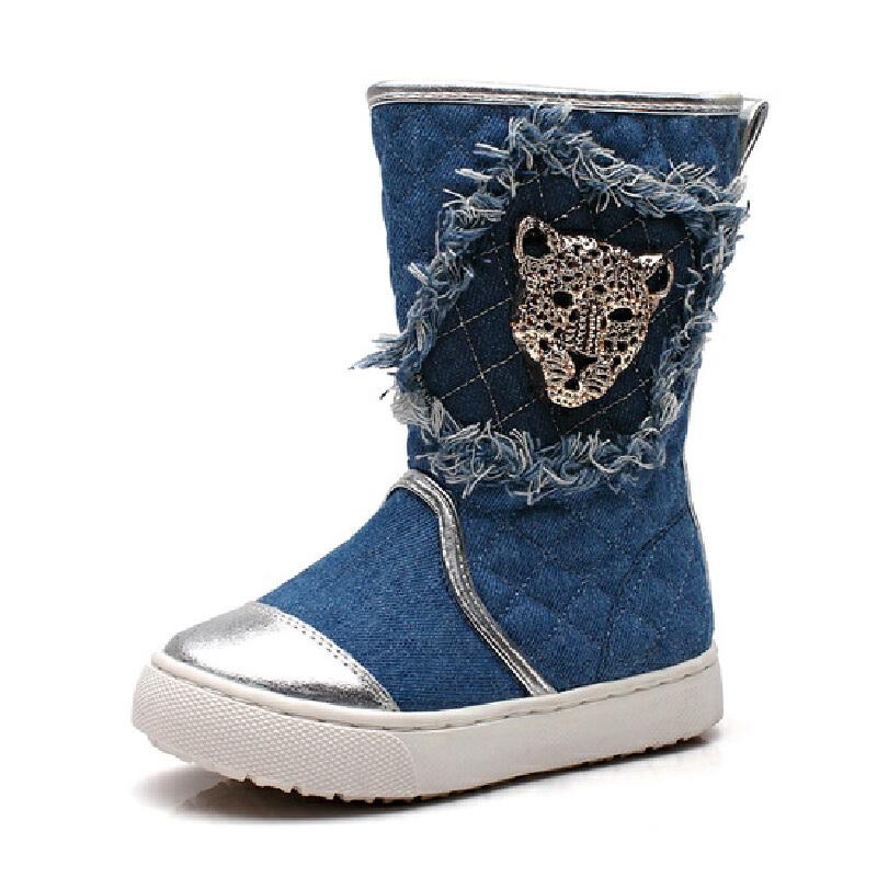 比比我童鞋韩版时尚潮儿童靴子春秋款一脚蹬中筒靴【每满100减50】