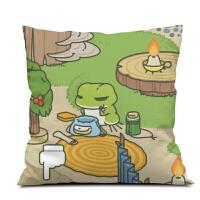 旅行青蛙的旅行游戏周边抱枕靠垫来图定制做公仔玩偶旅
