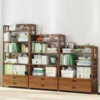 拓爵楠竹简易书架置物架简约实木落地儿童学生小书柜子收纳储物柜