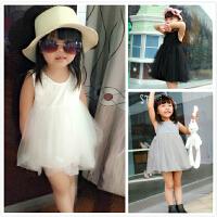 欧美风蓬蓬无袖裙 女宝宝童连衣裙夏装 0-1-2-3婴儿背心裙公主裙