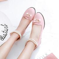 春季新款公主鞋韩版甜美蝴蝶结女童皮鞋中大童学生表演舞蹈鞋