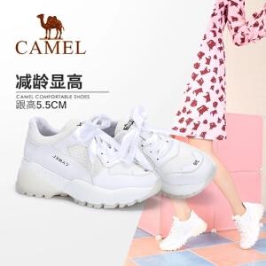 骆驼女鞋 2018新款夏运动鞋女ins超火的鞋子小白鞋厚底网红老爹鞋