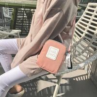新款马卡龙斜跨小方包手机包韩系学生时尚百搭糖果色文艺小清新包