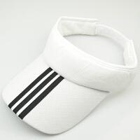 夏季户外运动跑步防�鹫谘粑薅ネ�球帽潮男女空顶太阳鸭舌棒球帽子LCQ 白色 条纹款 可调节